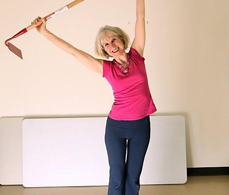 Patricia demonstrates pose