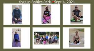 Group Photo Yoga in Robles PArk Sept 4 2021
